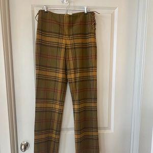 Nine West Wool Plaid Straight full leg VTG pants 6